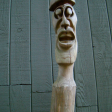 YARD POST - red cedar, 48x8x8
